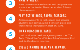 Infographic Classroom Movement Activities
