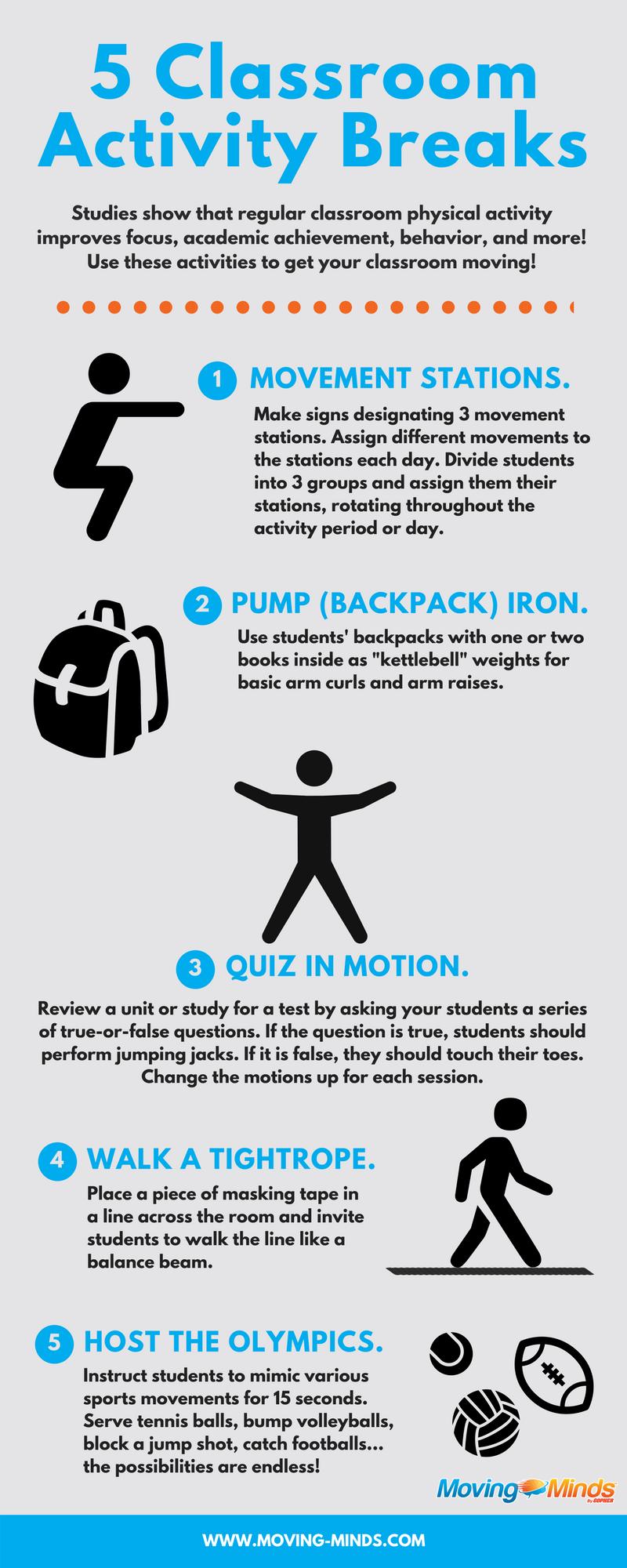 Classroom Activity Breaks Infographic