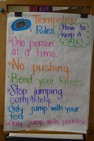 Trampoline rules for classroom