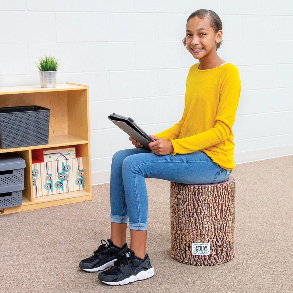 StudyStump Stool - Student Posture