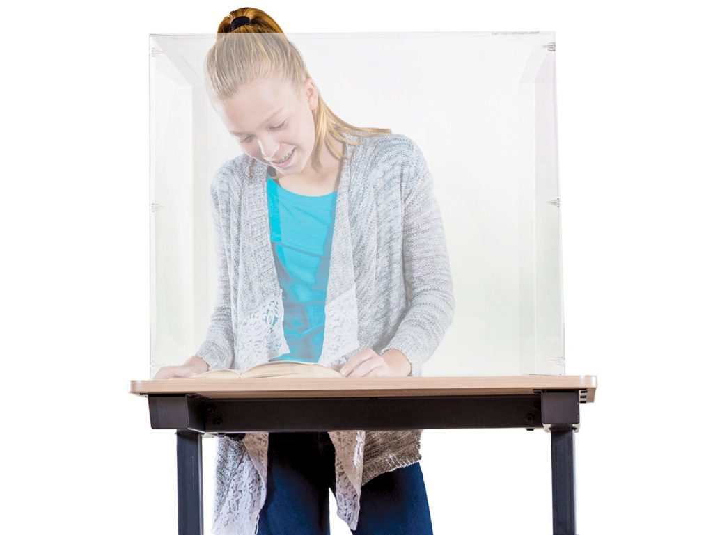 Physical distancing in the classroom with Sneeze Guards