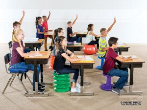 classroom utilizing active seating