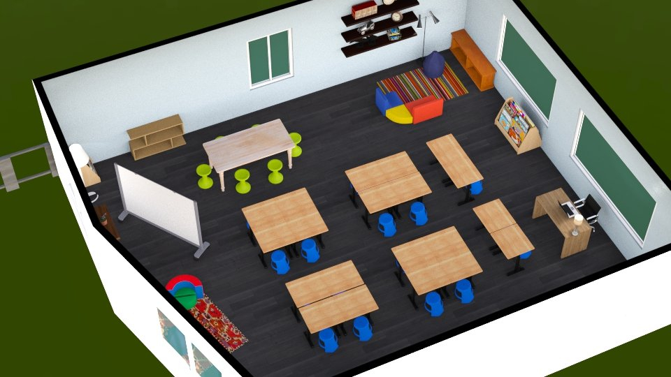 Federal Funding for active classroom   - 3D rendering of an active classroom