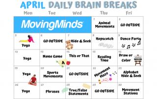 April Daily Brain Breaks