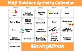 Outdoor class activity calendar